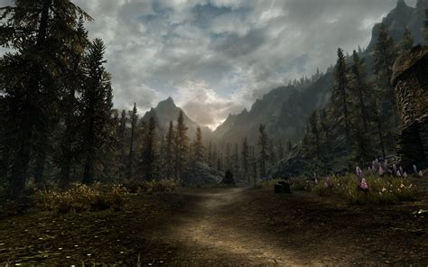 skyrim landscape skyrim paysages landscape wallpapers at skyrim nexus