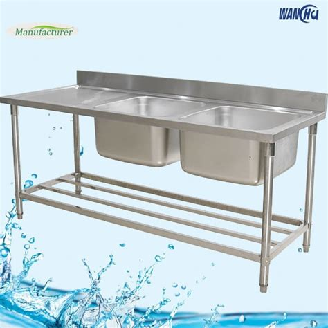 stainless steel work table with sink restaurant kitchen stainless steel sink work table factory