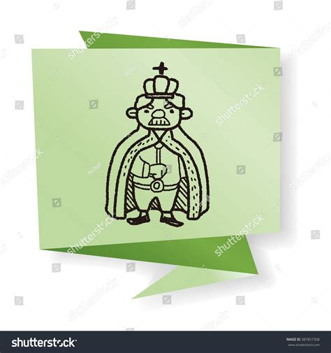 doodle king king doodle stock vector 387857308