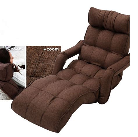 sleeper recliner floor foldable chaise lounge chair 3color adjustable