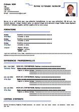 Module De Cv Word by Module De Cv Model Cv Professionnel Word Gratuit Jaoloron