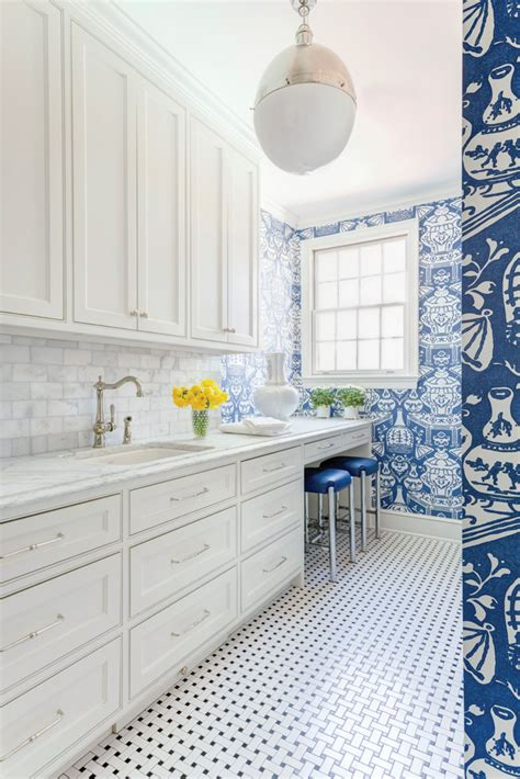 laundry room wallpaper wallpapered laundry rooms centsational