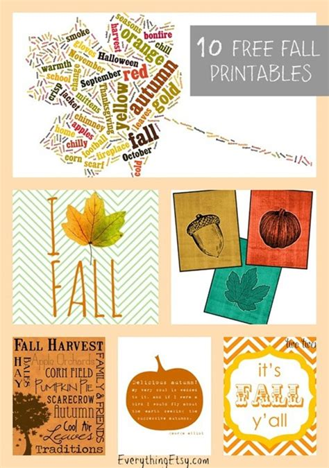 printable fall decorations 15 diy decor ideas for fall leaves everything etsy