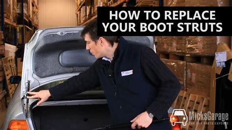 how to install replace trunk lid support strut buick how to replace the boot strut gas springs on your car from micksgarage youtube