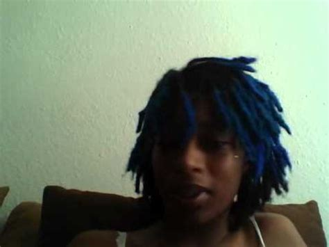 black guys dreaded dyed tips blue dreads youtube