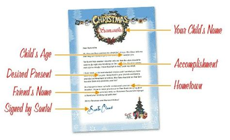Free personalized letter from santa christmas pinterest