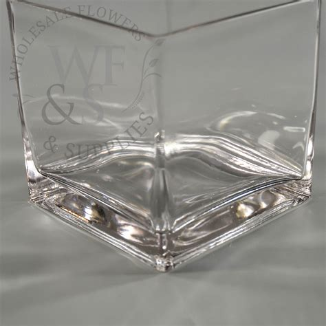 Glass Cube Vase Square Glass Cube Vase 6x6 Wholesale Flowers And Supplies