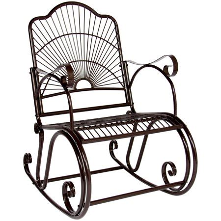 best choice products bcp patio iron scroll porch rocker