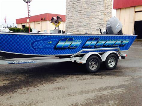 alumaweld boat graphics coho design makes boat graphics and custom vinyl boat wraps