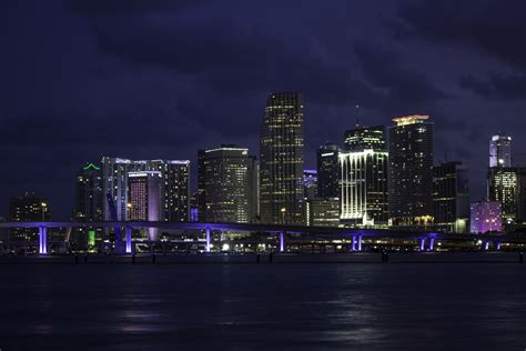 miami city skyline at night miami skyline at night 2 by fearisntreal on deviantart