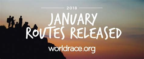 new year the big race january 2018 routes are live