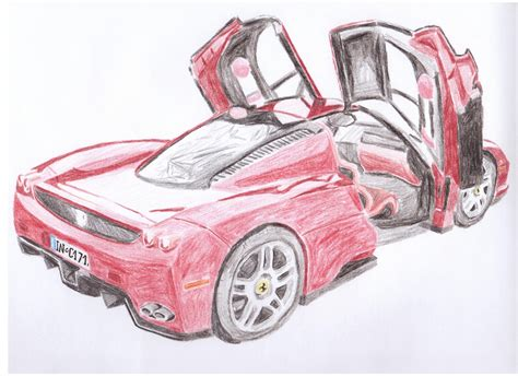 ferrari drawing how to draw a ferrari enzo drawing lessons