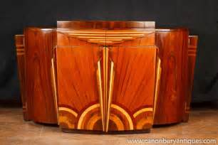 Buffet Storage Credenza Art Deco Inlaid Commode Sideboard Cabinet Furniture