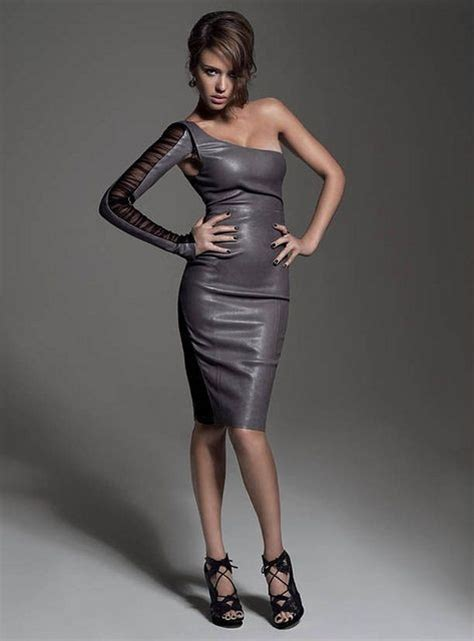 Alba Leaher leather dresses alba and leather fashion on