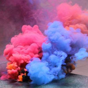 multi colors smoke cake for film and television lit pure