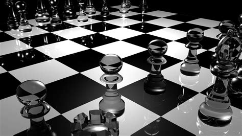 mobile chess chess 3d black and white hd wallpaper free