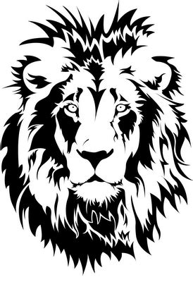 amazing lion stencil great cameo art png svg s