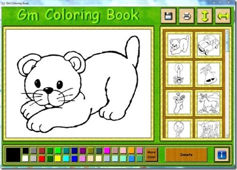coloring book software free coloring book software for to learn coloring gm