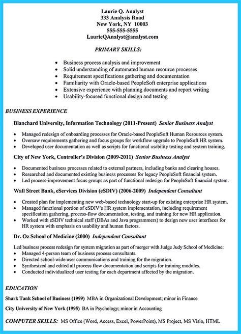 business analyst resume sample resumelift for resume examples