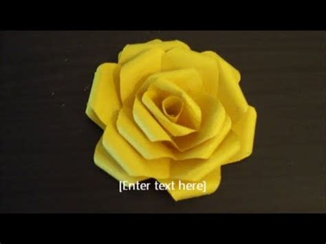 paper flower folding (easy and clear tutorial) youtube