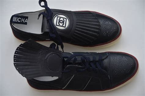 chanel sports shoes chanel new blue golf or tennis shoes new 39 at 1stdibs