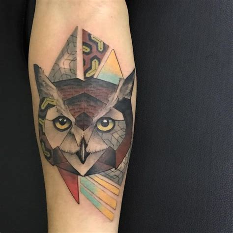 owl tattoo meaning gang geometric owl tattoo tattoo collections