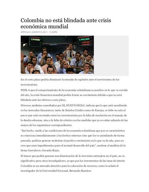 nuevis plazos presentacion informacion exogena en colombia ai gravable 2015 colombia no est 225 blindada ante crisis econ 243 mica mundial
