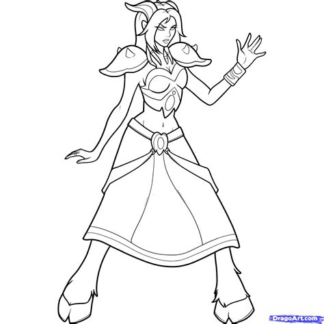 coloring pages of world of warcraft how to draw a draenei world of warcraft step 11 1