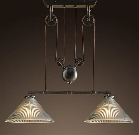 bar lighting restoration hardware fixtures pinterest
