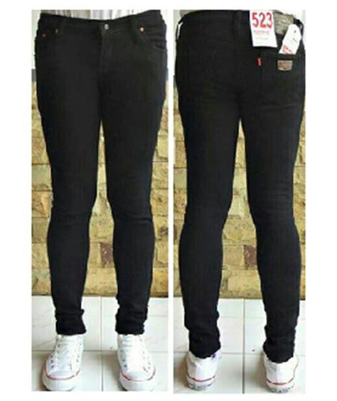 Celana Levis Hitam celana levis cewek hitam sepertiga