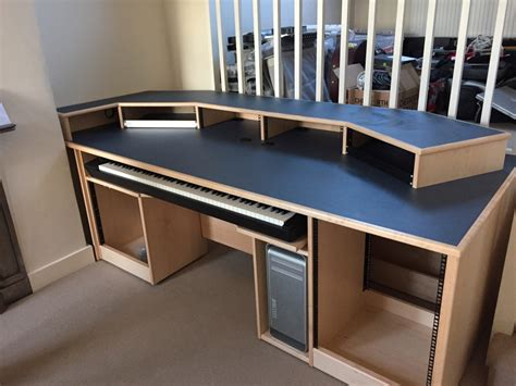 Recording Studio Furniture Custom Built Maple Desk With Studio Workstation Desk Uk