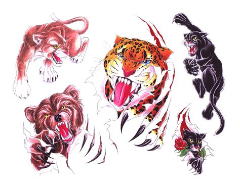 wild animal tattoo designs animal tattoos and designs page 39