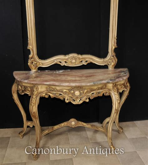 Sofa Table And Mirror Set Louis Xvi Console Table And Mirror Set Gilt Wood Giltwood