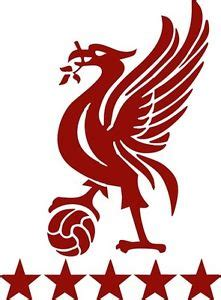 2x lfc liverbird football car bike window vinyl sticker