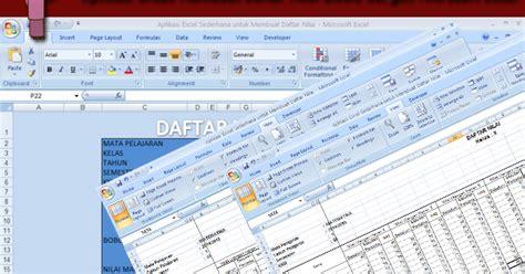 membuat database nilai siswa dengan excel aplikasi untuk membuat daftar nilai siswa dengan microsoft