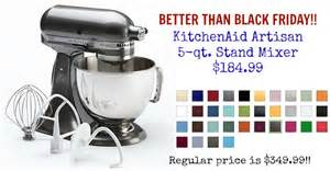 Better Than Black Friday! 5 qt. KitchenAid Artisan Mixer, $184.99   AddictedToSaving.com