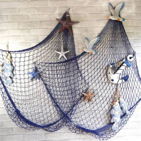 decorative fish net wall decoration nautical fishing net seaside beach themed party diy sea