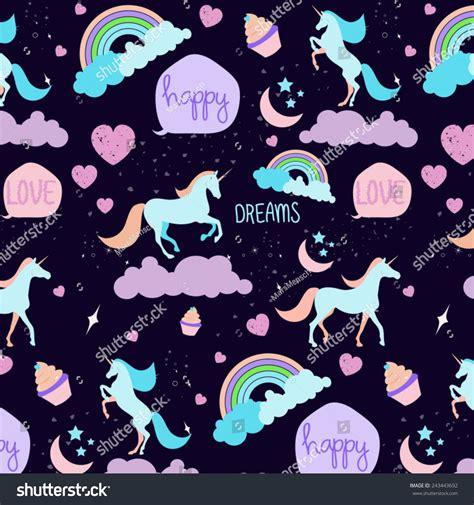pattern magic italiano seamless unicorn pattern stock vector 243443692 shutterstock