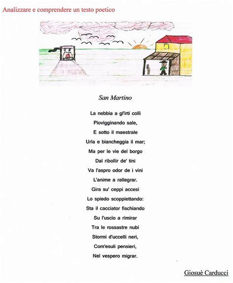 testi umoristici brevi analizzare e comprendere un testo poetico quot san martino