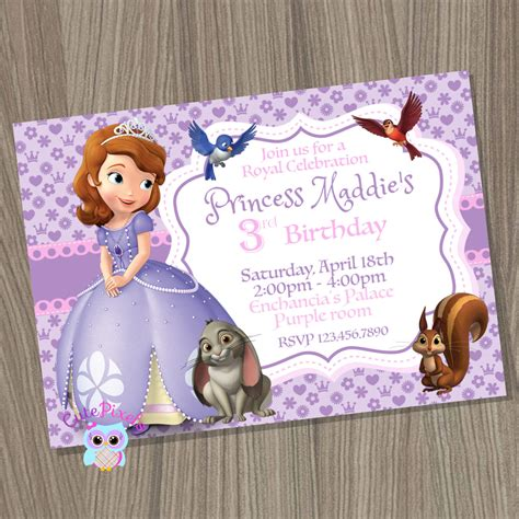 princess sofia template sofia the birthday invitations ajordanscart