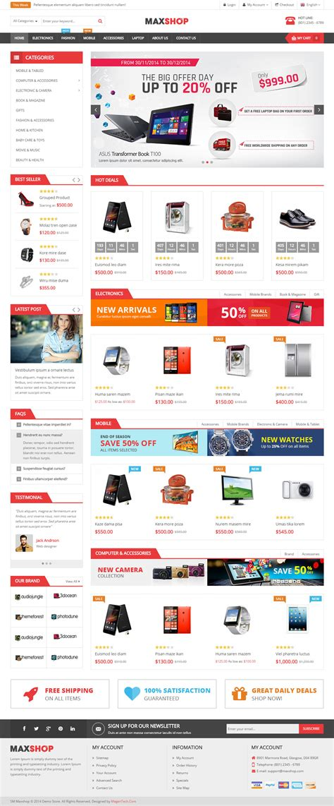 20 best responsive magento bootstrap themes 2017