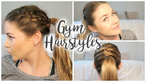 quick and easy hairstyles for gym quick and easy hairstyles for the gym youtube