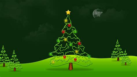 wallpaper christmas cartoon 1058 christmas tree animated hd background wallpaper