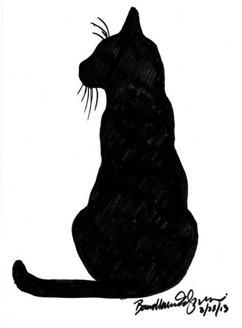 tattoo black cat silhouette black cat silhouette tattoo www imgkid com the image