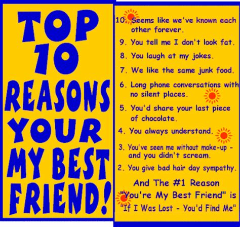 top 10 reasons you re my best friend