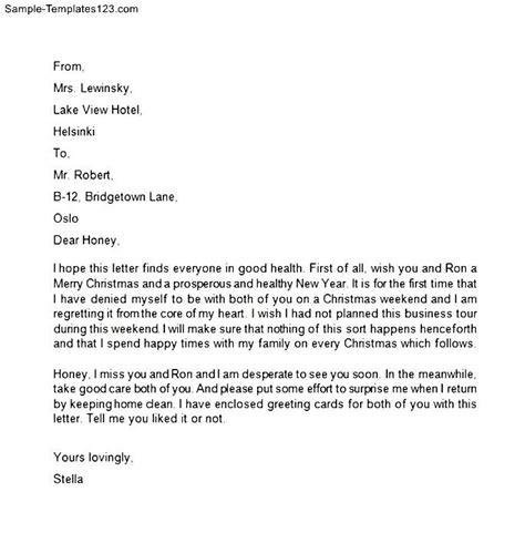 Family Letter Templates Sle Family Letter Sle Templates
