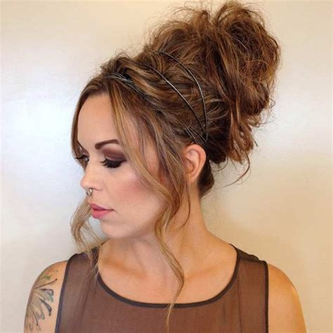 high buns hairstyles images 35 gorgeous updos for bridesmaids messy high bun high