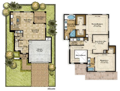Floor Plan With Perspective House by 3d House Floor Plans 3d Floor Plans 2 Story House Two