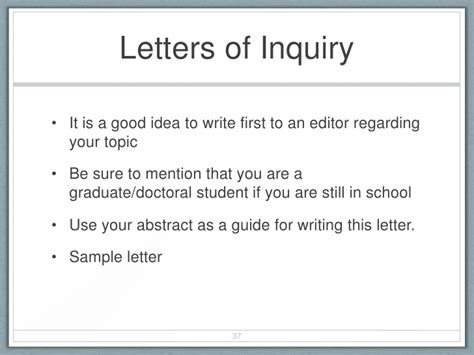 Inquiry Letter Sle For Student Breaking The Article Writing Process For New Academics