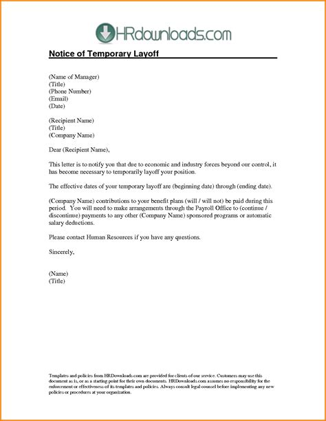 authorization letter sle salary salary reduction letter to employee sle layoff letter